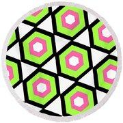 Hexagon Round Beach Towel