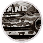 Hi-land  -bw Round Beach Towel by Christopher Holmes