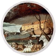 Hicks: Noahs Ark, 1846 Round Beach Towel