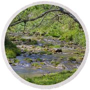 Hidden Creek Round Beach Towel