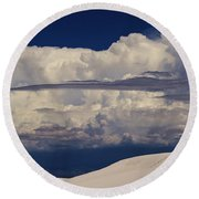 Hidden Mountains In The Shadows Of The Storm Round Beach Towel