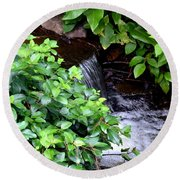 Hidden Waterfall Round Beach Towel