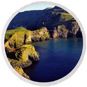 High Angle View Of Rock Formations In Round Beach Towel