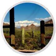 High Chaparral Old Tuscon Arizona  Round Beach Towel