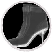 High Heel Boot X-ray Round Beach Towel