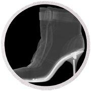 High Heel Boot X-ray Round Beach Towel