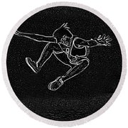 High Jump II Round Beach Towel