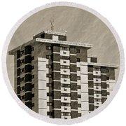 High Rise Apartments Round Beach Towel