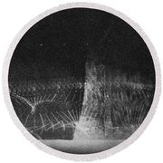 High Speed Photography Round Beach Towel by Science Source