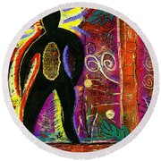 High Spirits Round Beach Towel