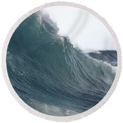 High Stormy Seas Round Beach Towel
