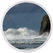 High Surf 2 Round Beach Towel