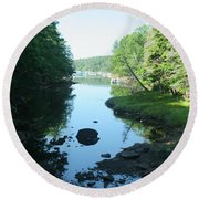 High Tide In Maine Part Of A Series Round Beach Towel