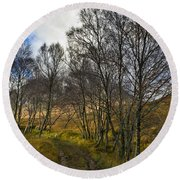 Highland Highway Round Beach Towel by Gary Eason