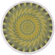 Highspeed Pinwheel Round Beach Towel