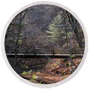 Hikers Shortcut Round Beach Towel