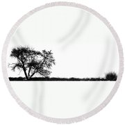 Hill And The Well Round Beach Towel