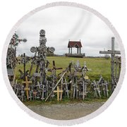 Hill Of Crosses 01. Lithuania Round Beach Towel