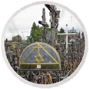 Hill Of Crosses 04. Lithuania Round Beach Towel