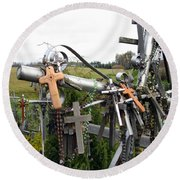 Hill Of Crosses 08. Lithuania Round Beach Towel