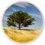 Hill Top Beauty Round Beach Towel