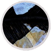 Hills With Stones Round Beach Towel