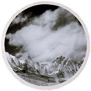 Himalayan Mountain Range Round Beach Towel