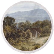 Hindhead From Sandhills Witley Round Beach Towel