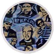 Hip Hop Is Dead #1 Round Beach Towel