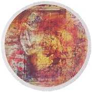 Hippies And The Sun Round Beach Towel