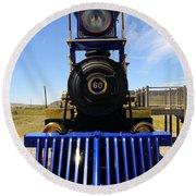 Historic Jupiter Steam Locomotive Round Beach Towel