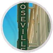 Historic Roseville California Round Beach Towel
