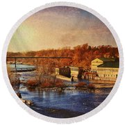Historic Vulcan Paper Mill Round Beach Towel