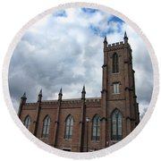 Historical 1st Presbyterian Church - Gates Avenue Se Huntsville Alabama Usa - Circa 1818 Round Beach Towel