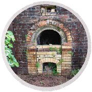 Historical Antique Brick Kiln In Morgan County Alabama Usa Round Beach Towel