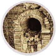 Historical Brick Kiln Oven Opening Decatur Alabama Usa Round Beach Towel