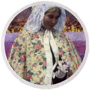 Hitchcock: The Bride, 1900 Round Beach Towel
