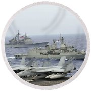Hmas Ballarat Of The Royal Australian Round Beach Towel