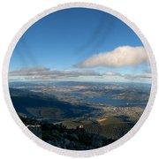 Hobart Tasmania Mount Wellington Round Beach Towel