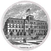 Hoboken: College, 1878 Round Beach Towel