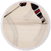Hockey Stride Round Beach Towel