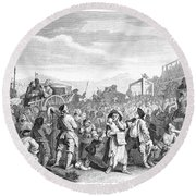 Hogarth: Industry, 1751 Round Beach Towel