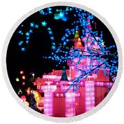 Holiday Lights 8 Round Beach Towel