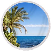 Holidays By The Sea Round Beach Towel