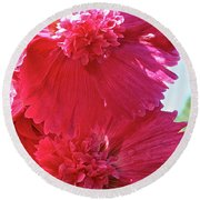 Hollyhock Duet Round Beach Towel