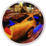 Hollywood Bumblebee Round Beach Towel