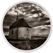 Holy Cross Chapel Round Beach Towel