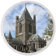 Holy Trinity Cathedral Dublin Round Beach Towel