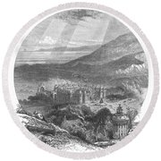 Holyrood Palace Round Beach Towel