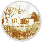 Home Place Round Beach Towel